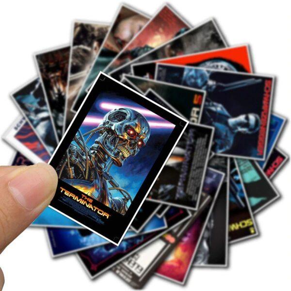 Retro movie stickers
