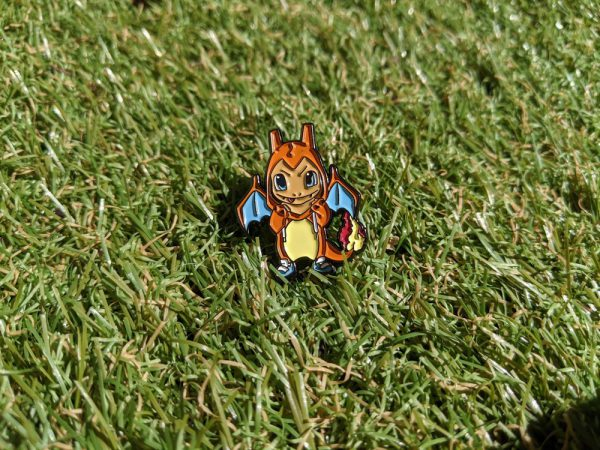 Pokemon Charmander pin in grass