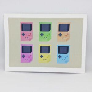 Game Boy postcard