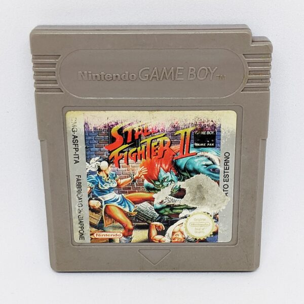 Street Fighter 2 Game Boy Cart Front