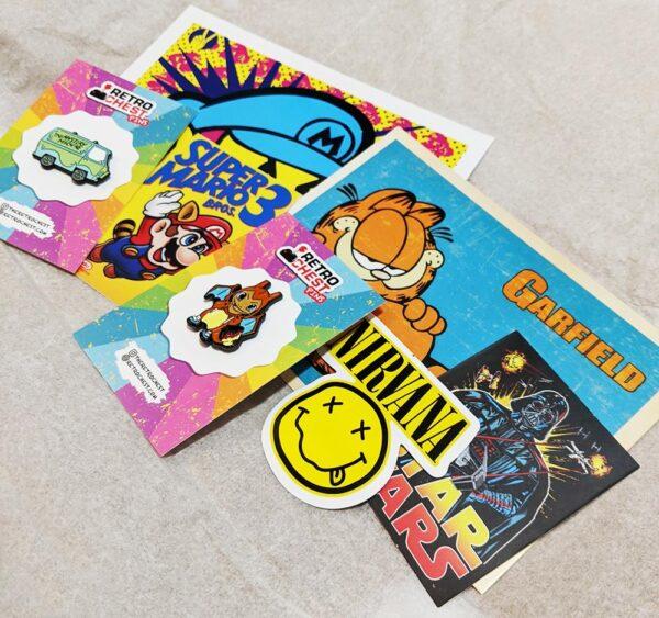 Retro Chest Stickers Subscription Box