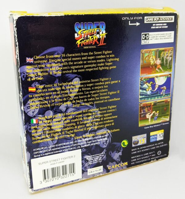 Super Street Fighter 2 GBA Back