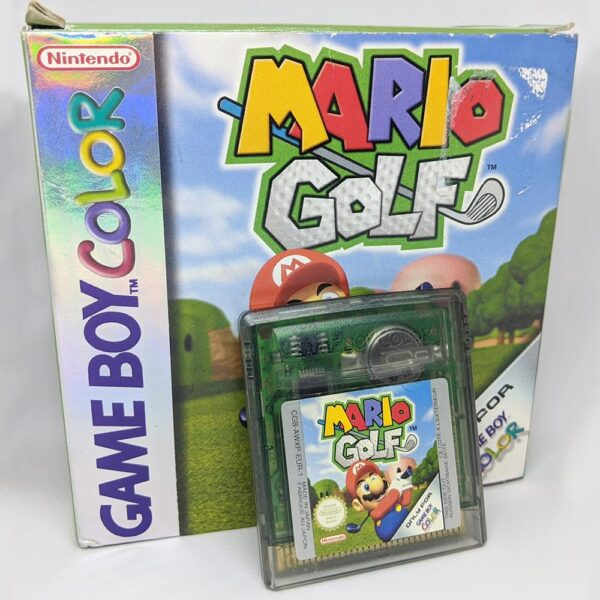 Mario Golf - Game Boy Color Box Front and Cart