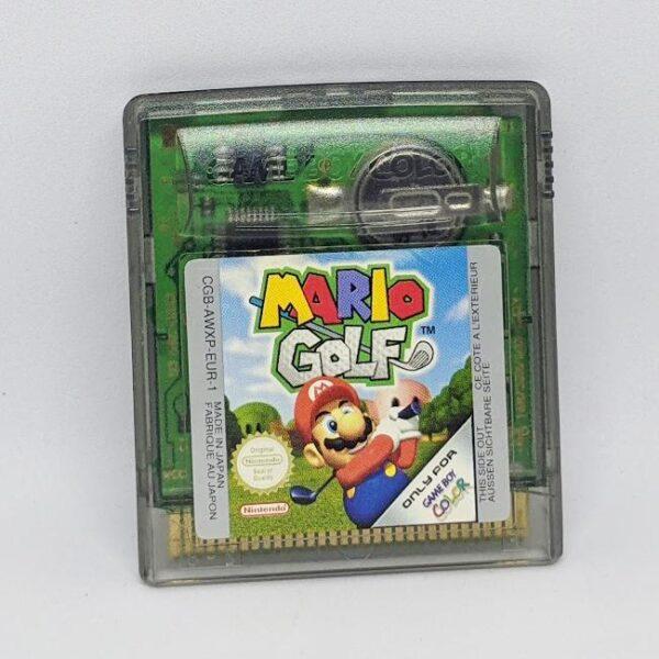 Mario Golf - Game Boy Color Cart Front