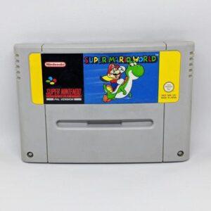 Super Mario World SNES Cart Front