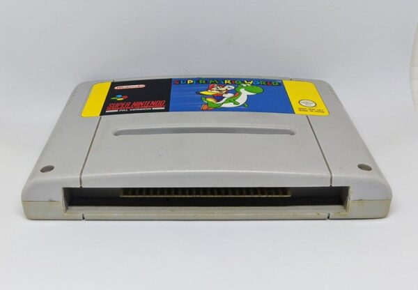 Super Mario World SNES Cart Bottom