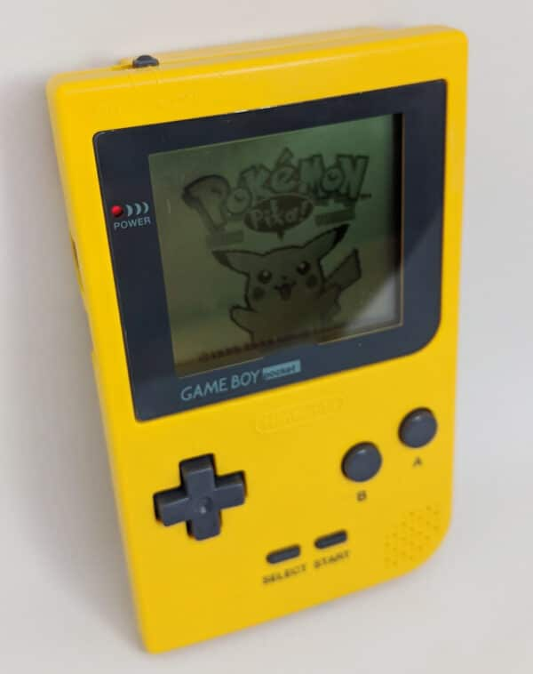 Game Boy Pocket Yellow In Use
