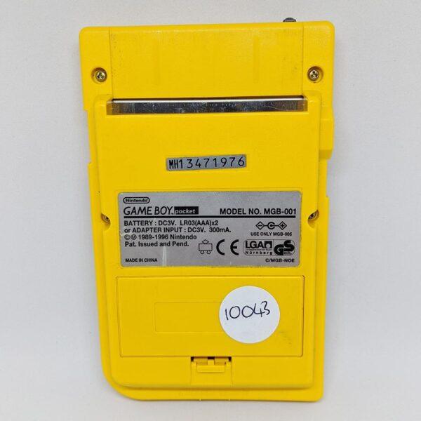 Game Boy Pocket Yellow Back