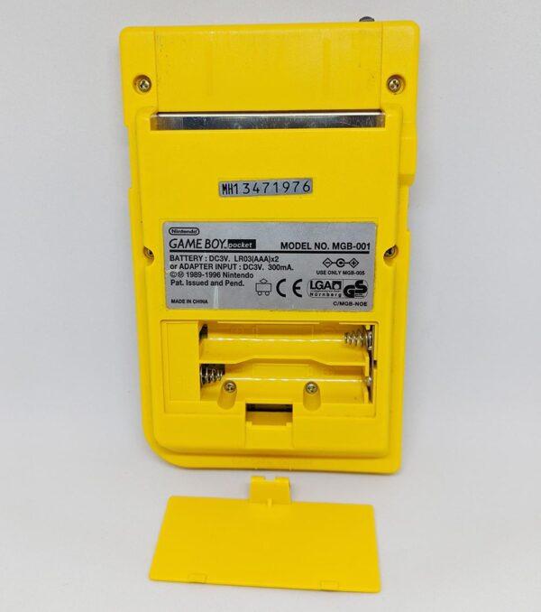 Game Boy Pocket Yellow Back Battery
