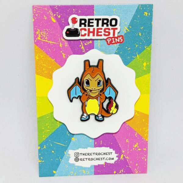 Retro Chest Pins Charmander Pokemon