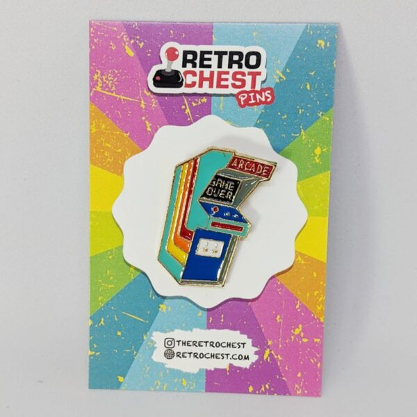 Retro Chest Pins Arcade Cabinet