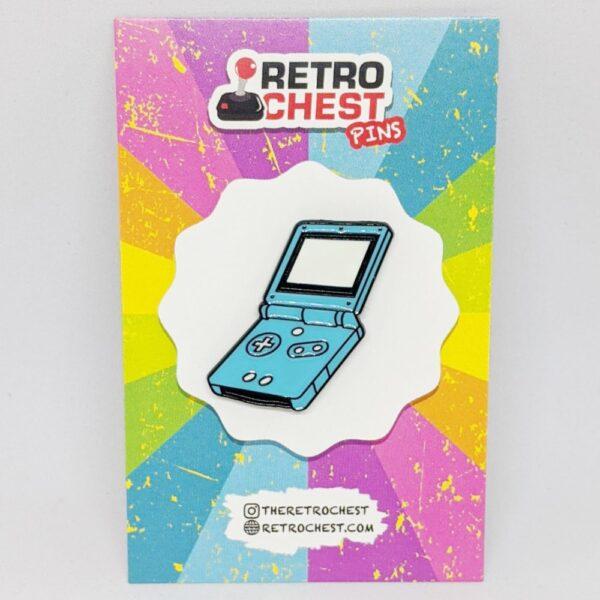 Retro Chest Pins Game Boy Advanced SP