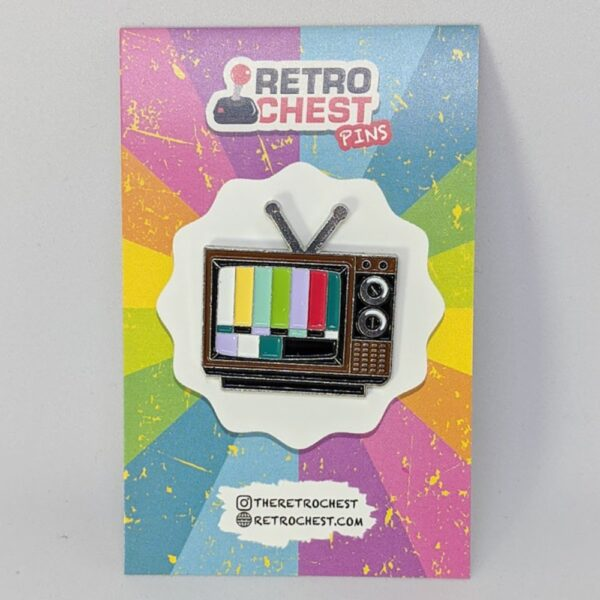 Retro Chest Pins TV Pin