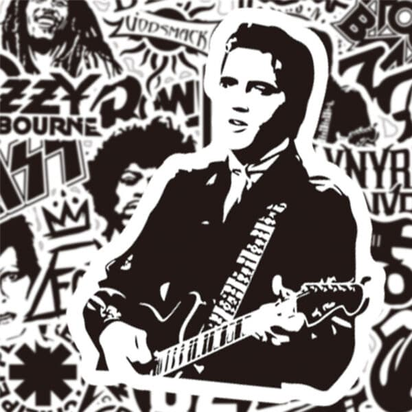Rock Music Stickers - Elvis