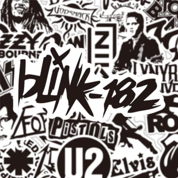Rock Music Stickers - Blink 182
