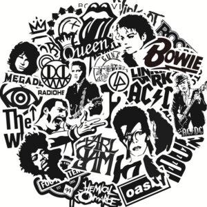 Rock Music Stickers - Mixture