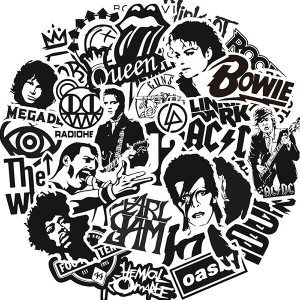 Rock Music Stickers - Mixture