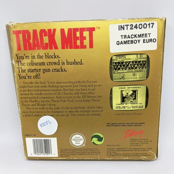 Track Meet Game Boy Boxed Back