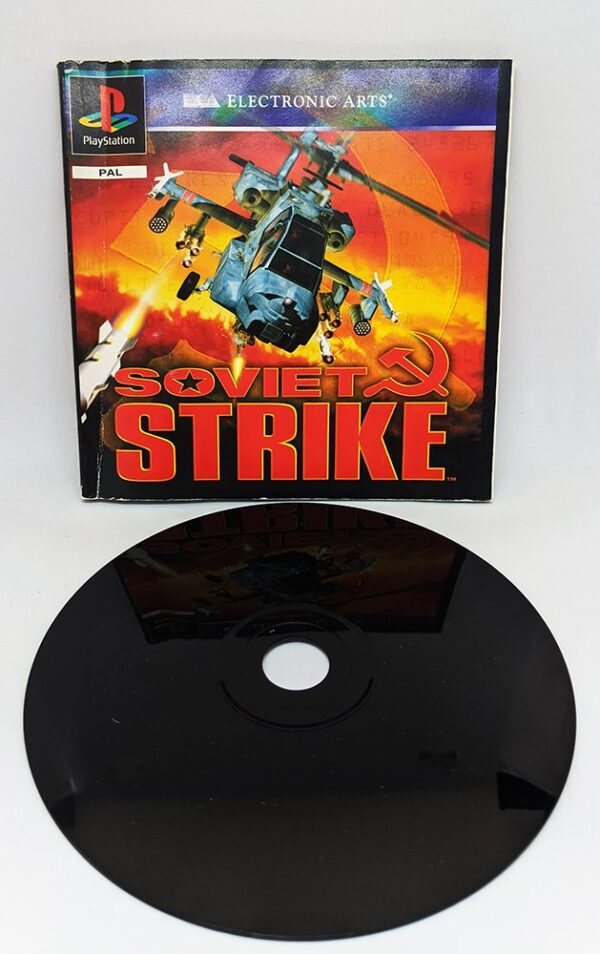 Soviet Strike PS1 Disc and Manual