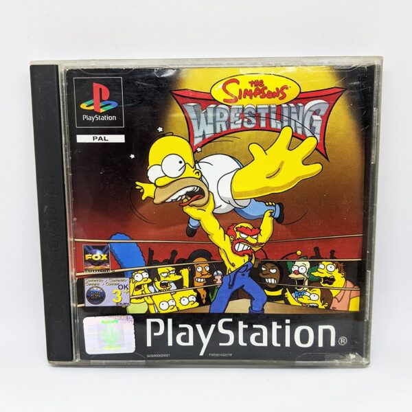 The Simpsons Wrestling PS1 Front