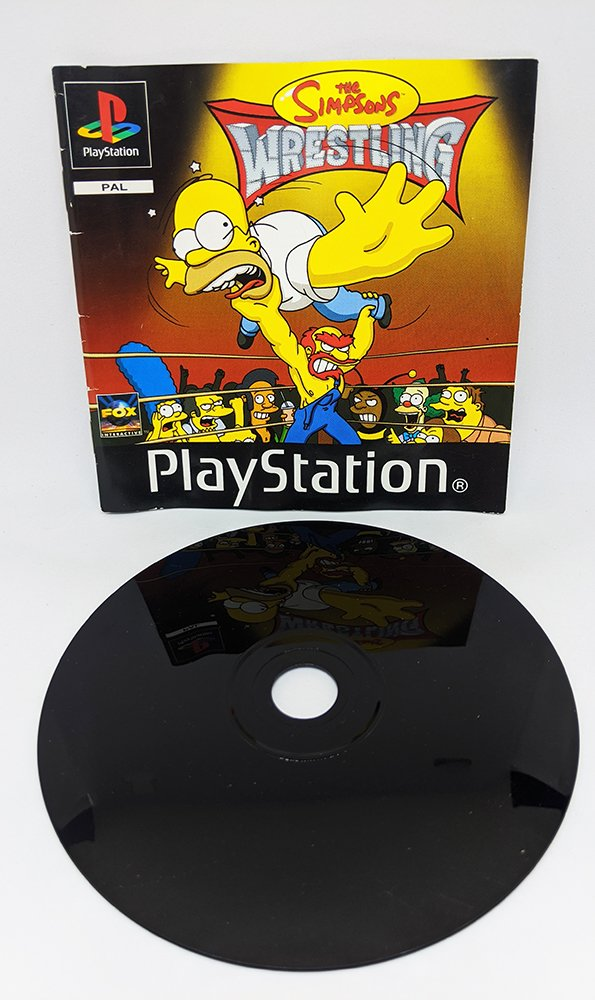 The Simpsons Wrestling PS1 Disc and Manual