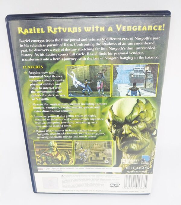 Soul Reaver 2 PS2 Back