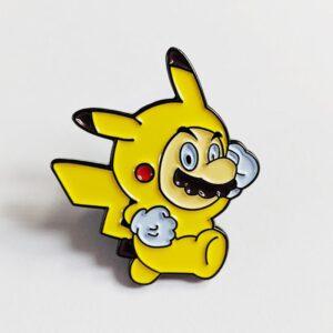 Pikachu Mario Pin