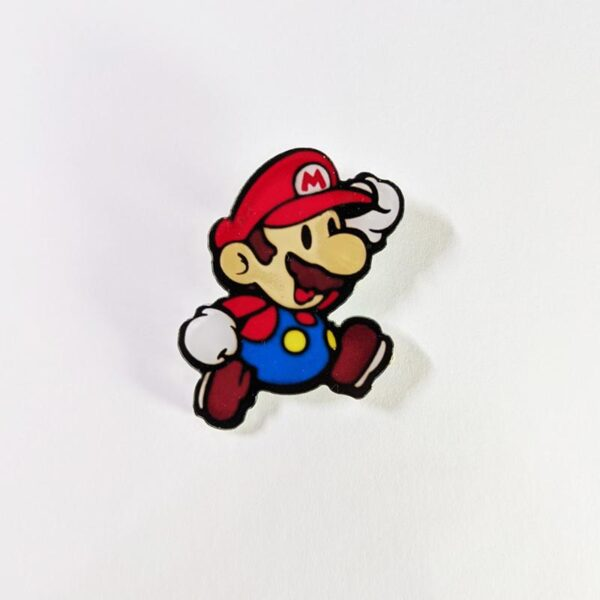 Paper Mario Pin Front