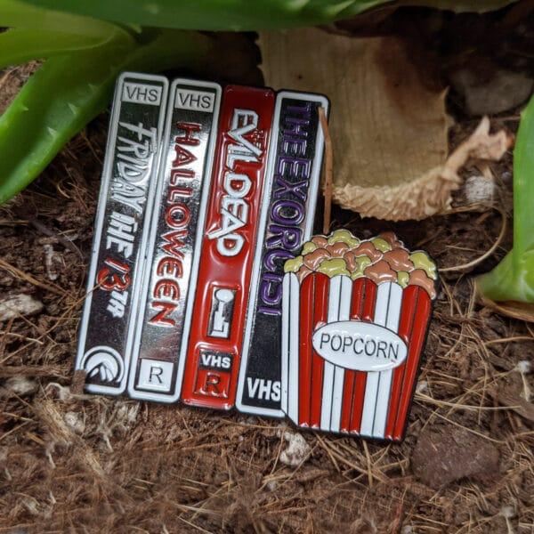 Horror VHS Enamel Pin