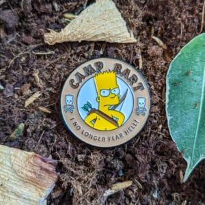 Camp Bart Enamel Pin