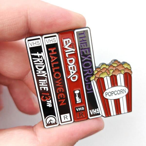 Horror Movies VHS Pin