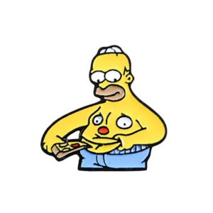 Homer Belly Pizza Pin