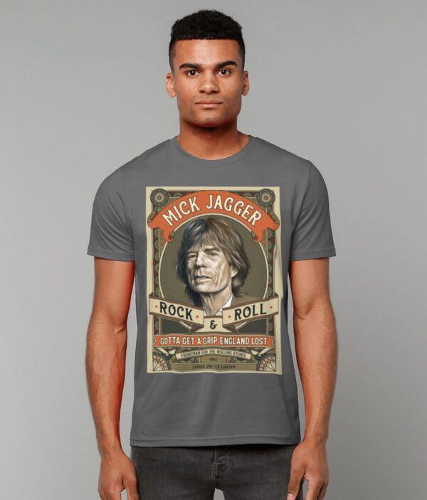 Mick Jagger Rock N Roll T-Shirt Male