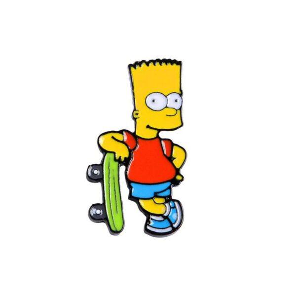 Bart Skateboard Pin