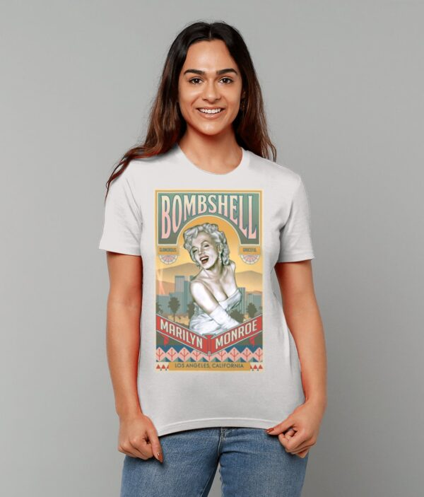 Marilyn Monroe Bombshell T-Shirt Cream Heather Grey