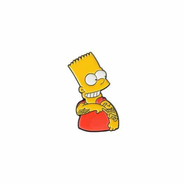 Bart Punk Tattoo Pin
