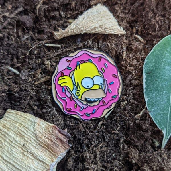 Homer Eating Donut Pin