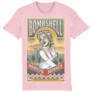 Marilyn Monroe Bombshell T-Shirt Cotton Pink