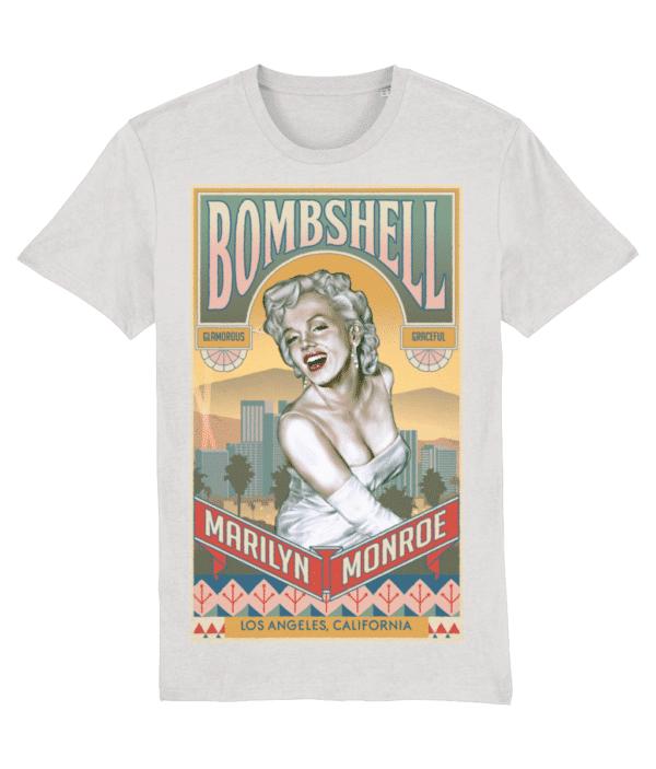 Marilyn Monroe Bombshell T-Shirt Cream Heaher Grey