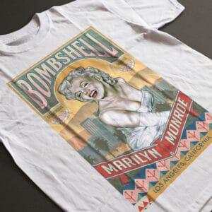 Marilyn Monroe Bombshell T-Shirt Vintage White