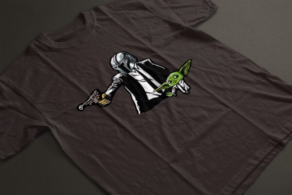 Baby Yoda Meets Pulp Fiction T-Shirt