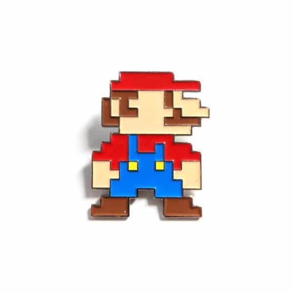 8 Bit Mario Pin Front