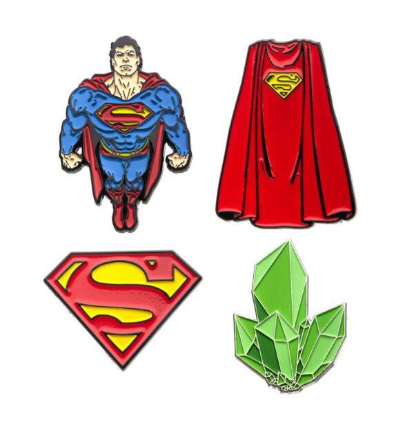 DC Comics Collectors Pins 4-Pack Superman