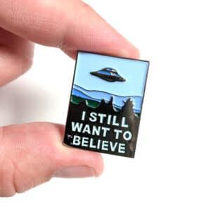 I Still Want To Believe X-Files Enamel Pin