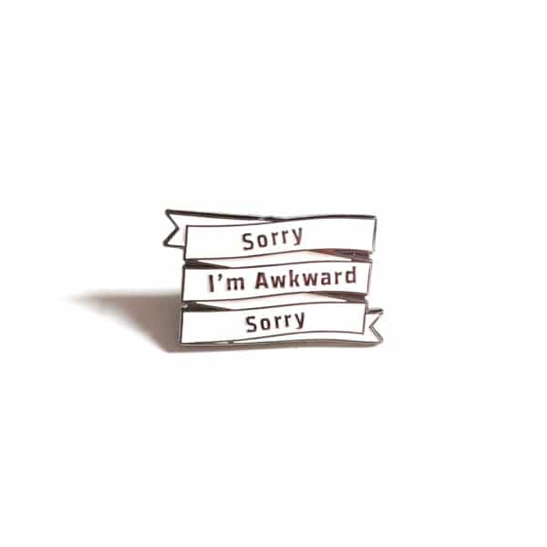 Socially Awkward Enamel Pin
